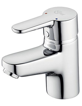 Concept Blue Small Basin Mixer Tap Without Waste