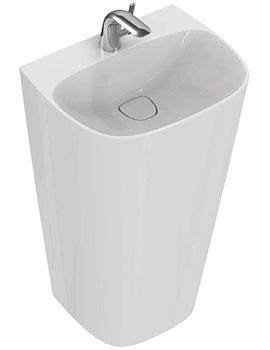Dea 520mm 1 Tap Hole Totem Washbasin - T085101