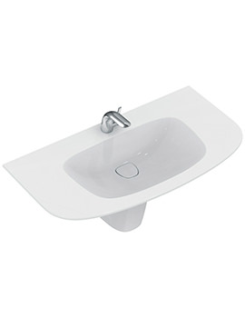 Ideal Standard Dea 1000mm 1 Tap Hole Vanity Washbasin And Semi Pedestal