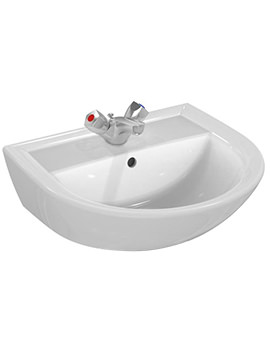 Armitage Shanks Sandringham 21 500mm 1 Taphole Washbasin With Overflow