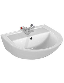 Sandringham 21 500mm 1 Taphole Washbasin With Overflow