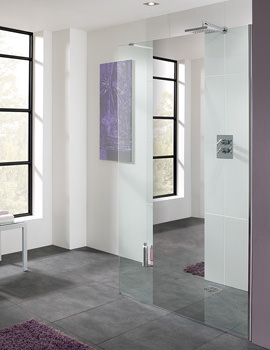 Cannes Mirror Walk-In Shower Panel 1100mm - LK810-110M 05
