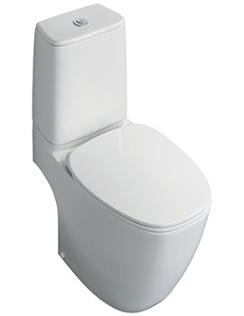 Dea Aquablade Close Coupled WC Pan 670mm - Horizontal Outlet