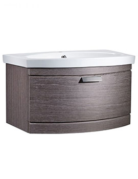 Tempo 650mm Dark Java Wall Mounted Unit And Basin