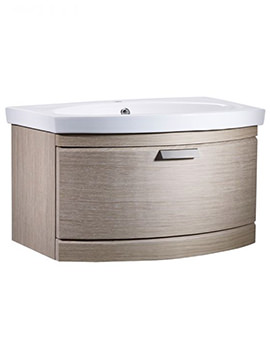 Tempo 650mm Light Java Wall Mounted Unit And Basin