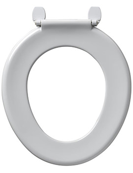 Bakasan Toilet Seat Only With Rod And Plastic Hinges White