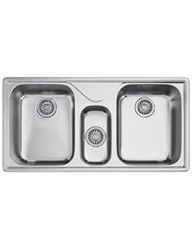 Franke Ariane ARX 670 Stainless Steel 2.5 Bowl Inset Kitchen Sink