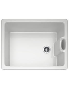 Belfast BAK 710 Ceramic White 1.0 Bowl Kitchen Sink