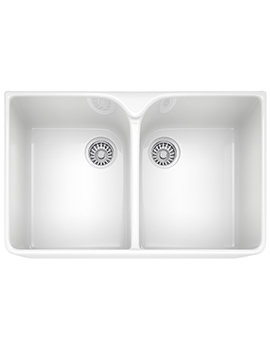 Franke Belfast VBK 720 White Ceramic 2.0 Bowl Kitchen Sink