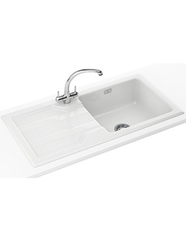 Galassia Propack GAK 611 Ceramic White Kitchen Inset Sink And Tap
