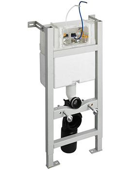 In-Wall 880mm WC Frame With Pneumatic Top Or Front Operation