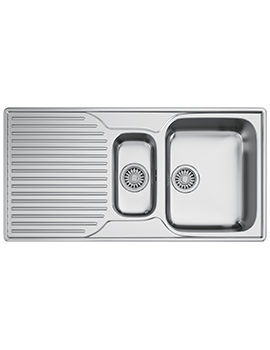 Ariane ARX 651P Stainless Steel 1.5 Bowl Kitchen Inset Sink