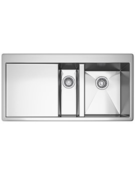 Planar PPX 251 Slim-Top 1.5 Bowl Stainless Steel Kitchen Inset Sink