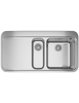Sinos SNX 251 Stainless Steel 1.5 Bowl Inset Kitchen Sink