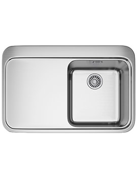 Sinos SNX 211 Stainless Steel 1.0 Bowl Inset Kitchen Sink