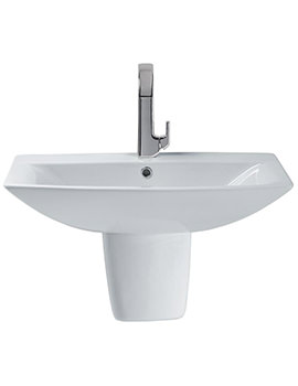 Sottini Delineo 700mm 1 Tap Hole Basin And Semi Pedestal
