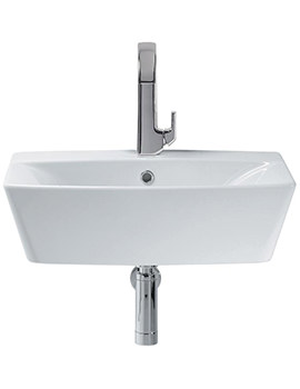 Sottini Delineo 600mm 1 Tap Hole Vessel Washbasin - T099401