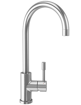 Eos Kitchen Sink Mixer Tap Solid Stainless Steel
