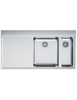 Franke Mythos MMX 261 Slim-Top 1.5 Bowl Stainless Steel Inset Sink