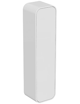 Dea 400 x 1600mm Gloss White Wall Hung Column Storage Unit