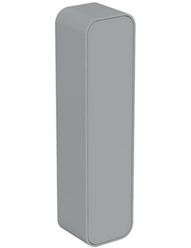 Dea 400 x 1600mm Gloss Mid Grey Wall Hung Column Storage Unit