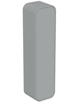 Dea 400 x 1600mm Gloss Mid Grey Wall Hung Column Storage Unit