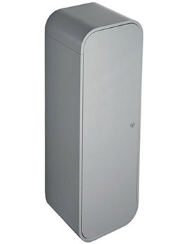 Dea 400 x 1200mm Gloss Mid Grey Wall Hung Half Column Unit