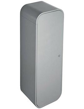 Dea 400 x 1200mm Gloss Mid Grey Wall Hung Half Column Unit