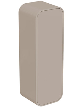 Dea 400 x 1200mm Gloss Light Brown Wall Hung Half Column Unit