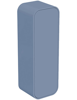 Dea 400 x 1200mm Gloss Blue Wall Hung Half Column Unit