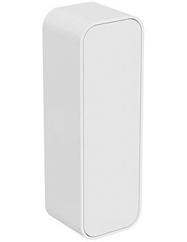 Dea 400 x 1200mm Gloss White Wall Hung Half Column Unit