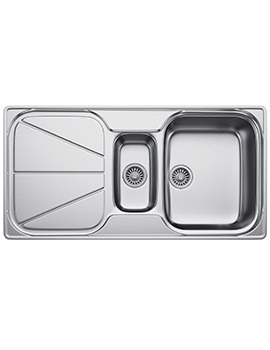Simplon SPX 651 Stainless Steel 1.5 Bowl Kitchen Inset Sink