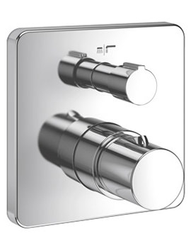 Jado Glance Concealed Thermostatic Bath And Shower Mixer Valve With Diverter