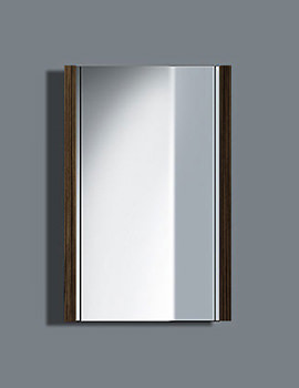 Duravit 2nd Floor Ebony 400mm Mirror With Lighting - 2F964505959