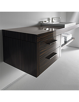 Duravit 2nd Floor Ebony 600mm Floor Cabinet For Console - 2F927605959