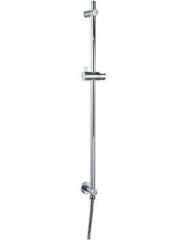 Levo Shower Slide Rail With Integral Wall Outlet - LVSSWO