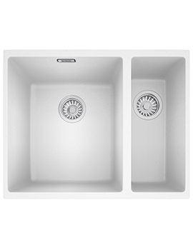 Sirius SID 160 Tectonite Polar White 1.5 Bowl Kitchen Undermount Sink