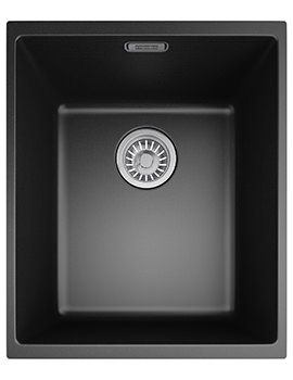Sirius SID 110 34 Tectonite Carbon Black 1.0 Bowl Undermount Sink