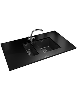 Sirius PP SID 110 16 + SID 110 34 Tectonite Carbon Black Sink And Tap