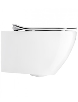 Svelte White Wall Hung WC Pan With Soft Close Seat