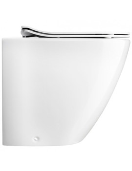 Svelte White Back To Wall WC Pan With Soft Close Seat
