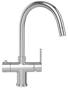 Franke Minerva 3-In-1 Kettle Kitchen Sink Mixer Tap Chrome