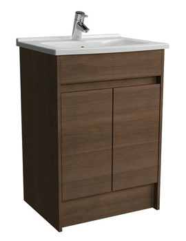 S50 Oak Floor Standing Unit With Washbasin