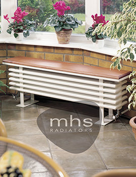 Multisec Bench White Column Radiator 1300 x 434mm