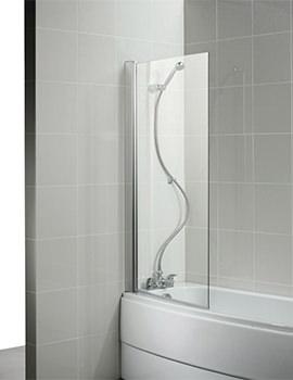 Studio 870 x 1419mm Curved Shower Bath Screen