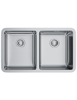Kubus KBX 120 34-34 Stainless Steel 2.0 Bowl Undermount Sink