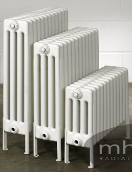 Multisec Floor 4 Column Radiator 1170 x 399mm - NMF-0300-4-26