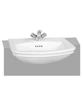 Serenada 1TH Semi-Recessed Washbasin 560mm - 4170B003-0002