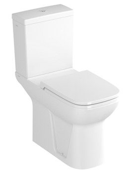 VitrA S20 Open Back Close Coupled WC Pan With Cistern And Seat