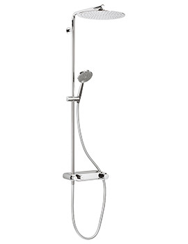 Ethos Thermostatic Shower Valve With Head And Handset